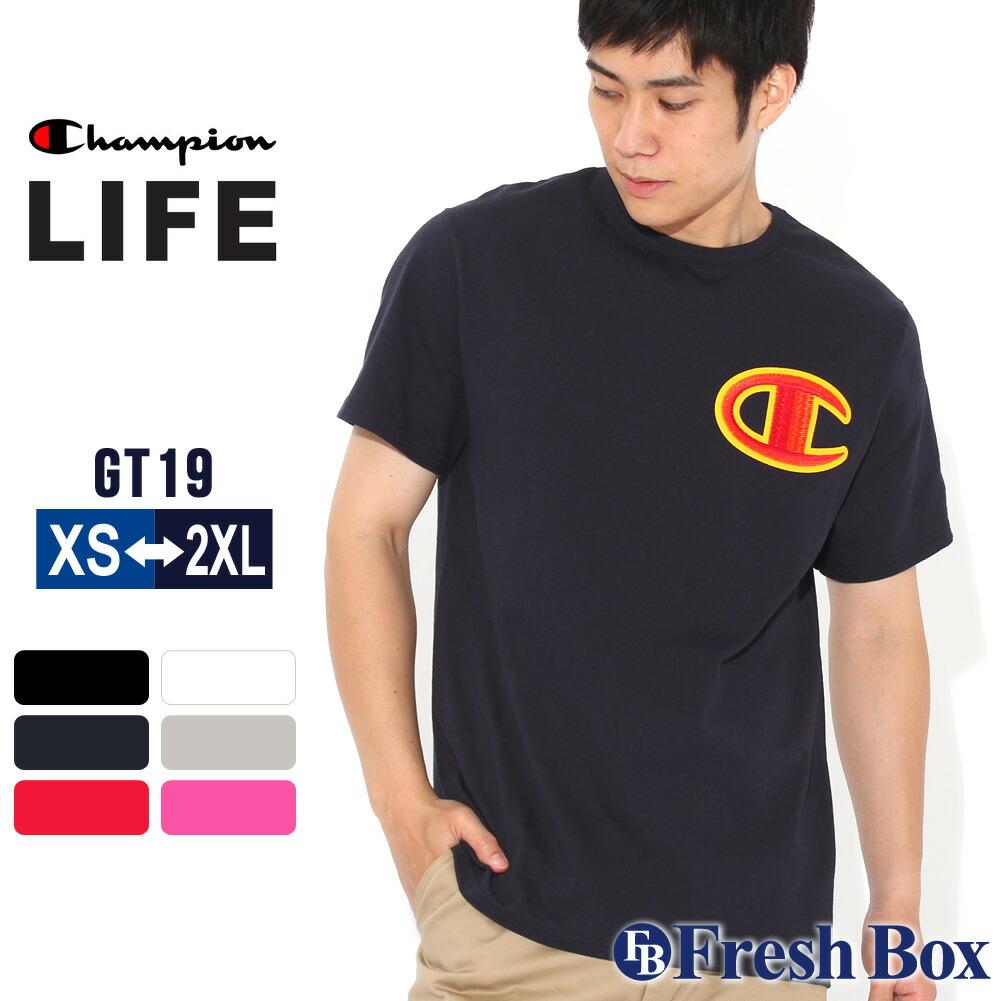 【送料無料】 Champion チャンピオン tシャツ 刺繍ロゴ メンズ 大きいサイズ メンズ 半袖 ヘビーウェイト tシャツ USAモデル