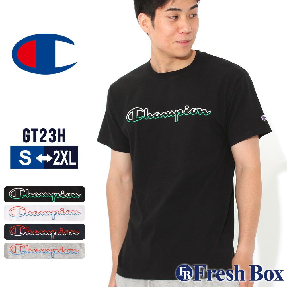 チャンピオン Tシャツ 半袖 クルーネック メンズ 大きいサイズ GT23H Y08126 USAモデル|ブランド Champion|半袖Tシャツ アメカジ