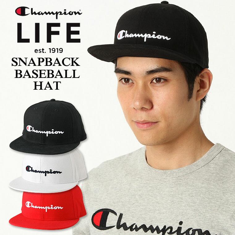 チャンピオン ライフ キャップ メンズ レディース 帽子 USAモデル|ブランド ロゴ アメカジ スナップバック|Champion
