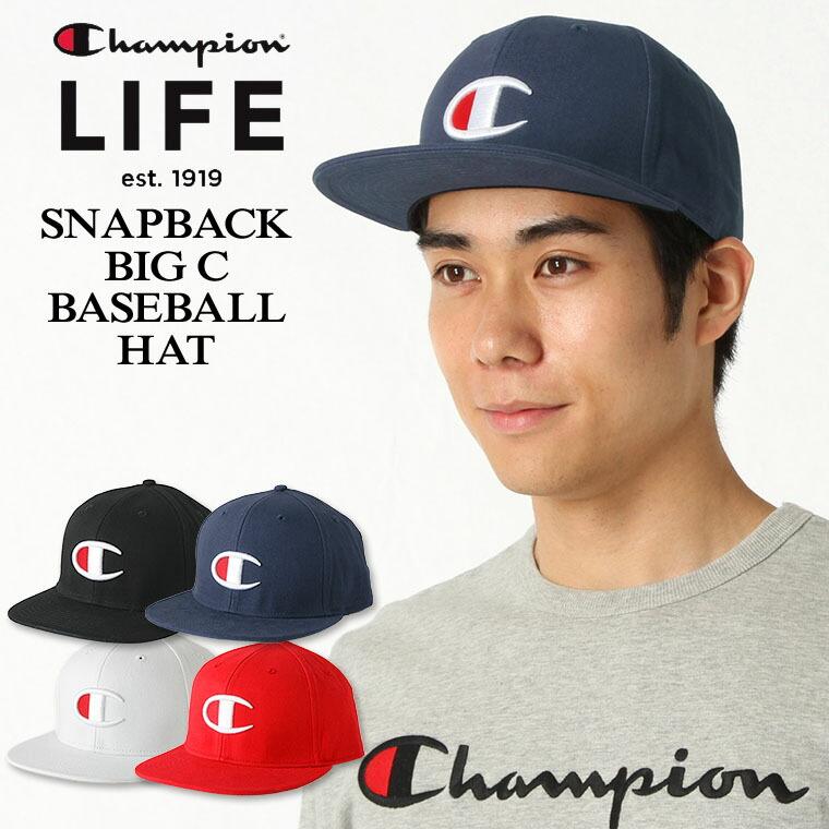 【送料無料】 チャンピオン ライフ キャップ メンズ レディース 帽子 USAモデル|ブランド ビッグロゴ アメカジ スナップバック|Champion