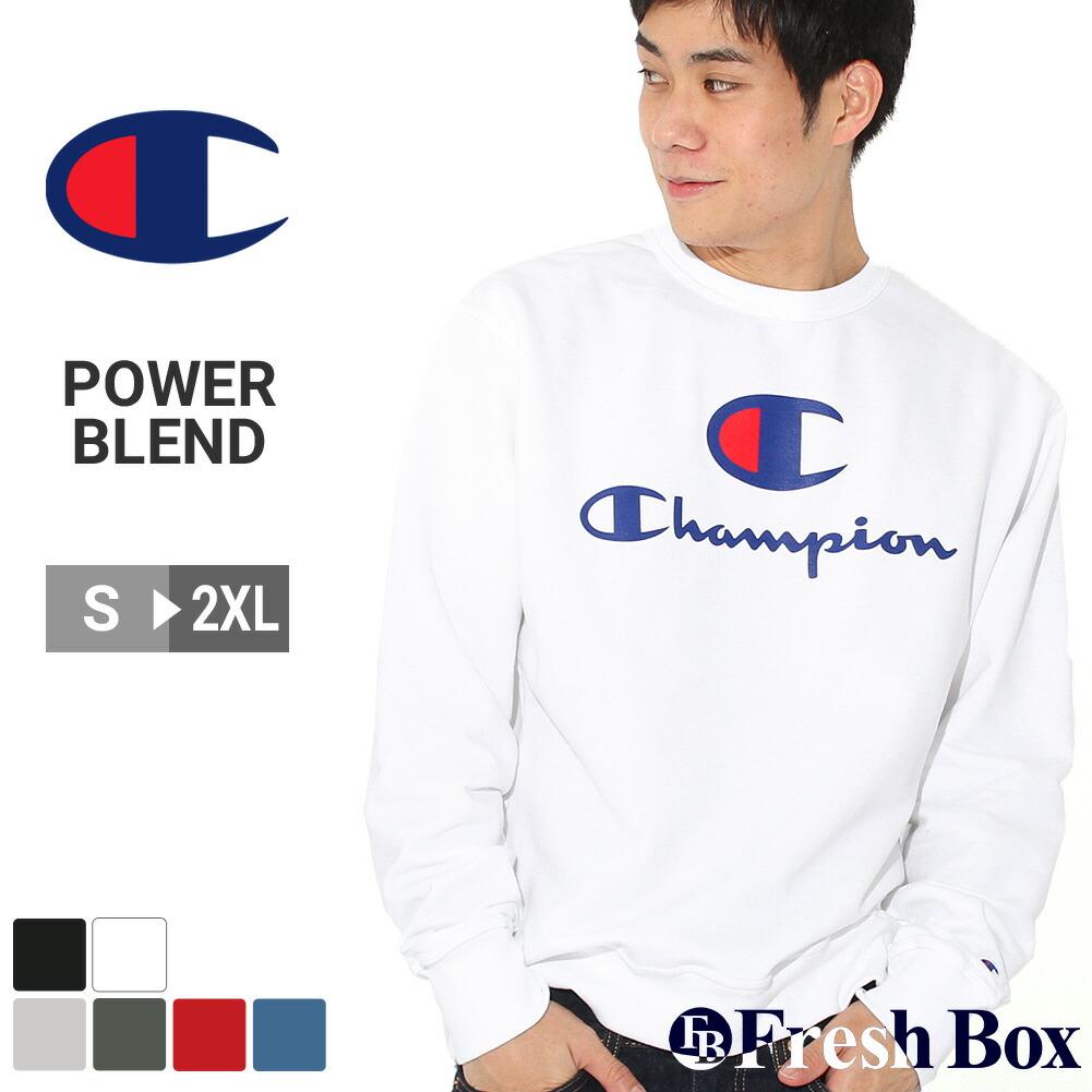 【送料無料】 Champion チャンピオン トレーナー 裏起毛 メンズ ブランド スウェット 大きいサイズ 9オンス [Powerblend Fleece Crew Big C & Script Logos] (USAモデル)