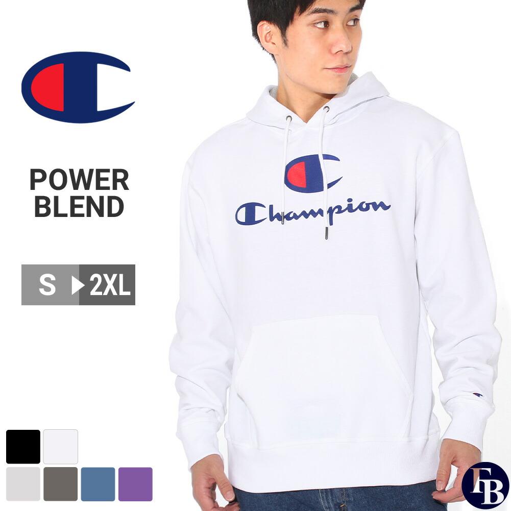 【送料無料】 Champion チャンピオン パーカー 裏起毛 メンズ プルオーバーパーカー ブランド スウェット 9オンス 大きいサイズ [Powerblend Fleece Hoodie Big C & Script Logo] (USAモデル)