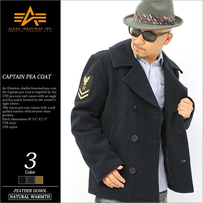 cc68e9fc4 ALPHA alpha pea coat men (mjc43913) [the size that alpha industries alpha  industry alpha pea coat men P coat p coat short navy has a big] (USA model)  ...