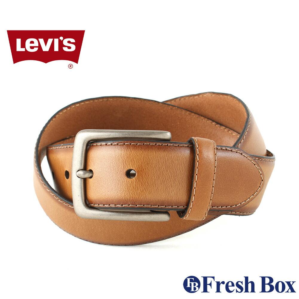 【送料無料】 Levis リーバイス ベルト メンズ 本革 ブランド カジュアル 大きいサイズ [levis-11lv120034] (USAモデル)