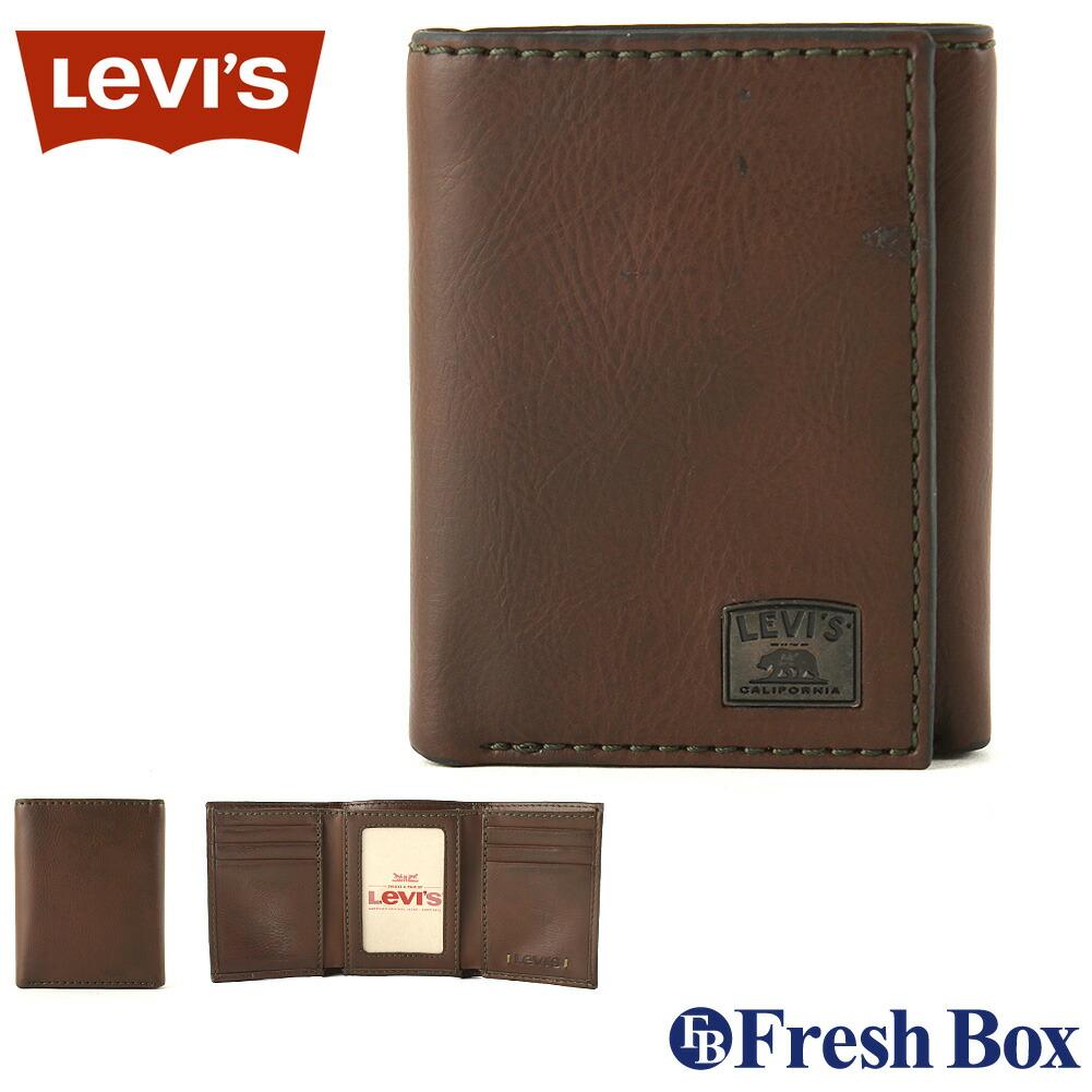 Levis リーバイス 財布 メンズ 三つ折り ブランド カジュアル 本革 コンパクト [levis-31lv110002] (USAモデル)