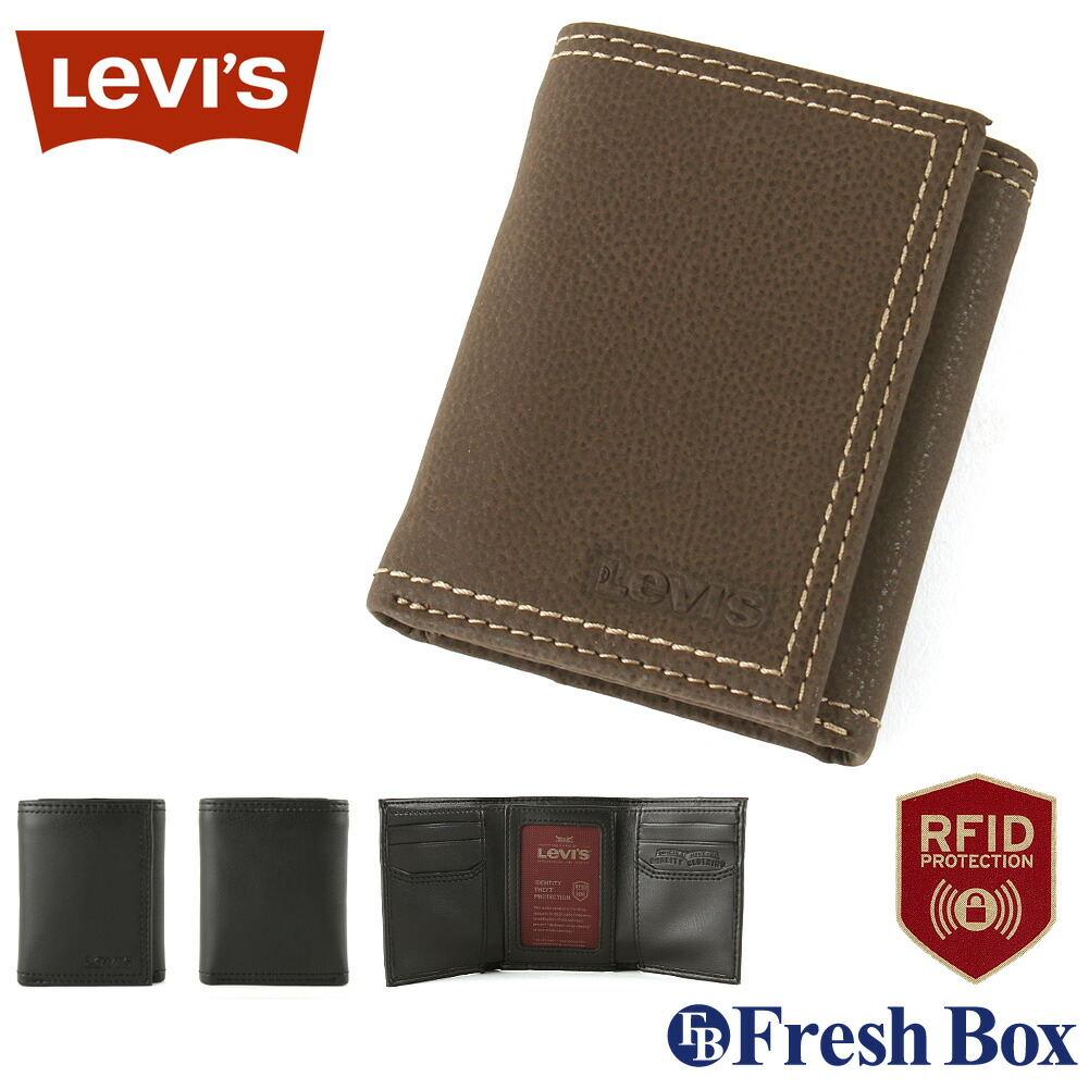 Levis リーバイス 財布 メンズ 三つ折り ブランド カジュアル 本革 コンパクト [levis-31lv110021] (USAモデル)