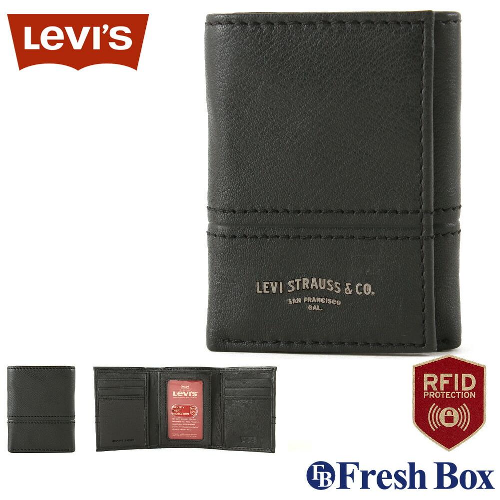 【送料無料】 Levis リーバイス 財布 メンズ 三つ折り ブランド カジュアル 本革 コンパクト [levis-31lv110046] (USAモデル)