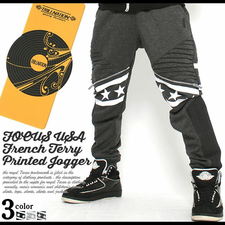 ジョガーパンツ/メンズ/ジョガーパンツ/スウェット/スリム/スウェットパンツ/バイカーパンツ/アメカジ/ストリート