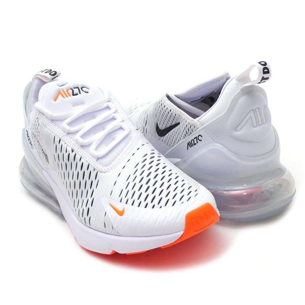 Nike NIKE AIR MAX 270 Air Max WHITEBLACKTOTAL ORANGE men AH8050 106 191013111