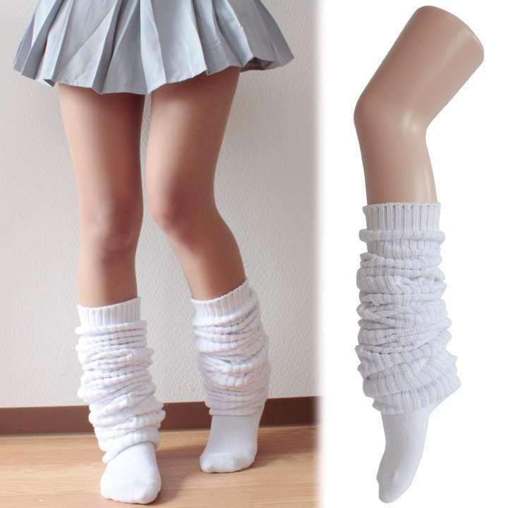 ルーズソックス 靴下 スクール 日本製 無地リブ 150cmロング[5149371]