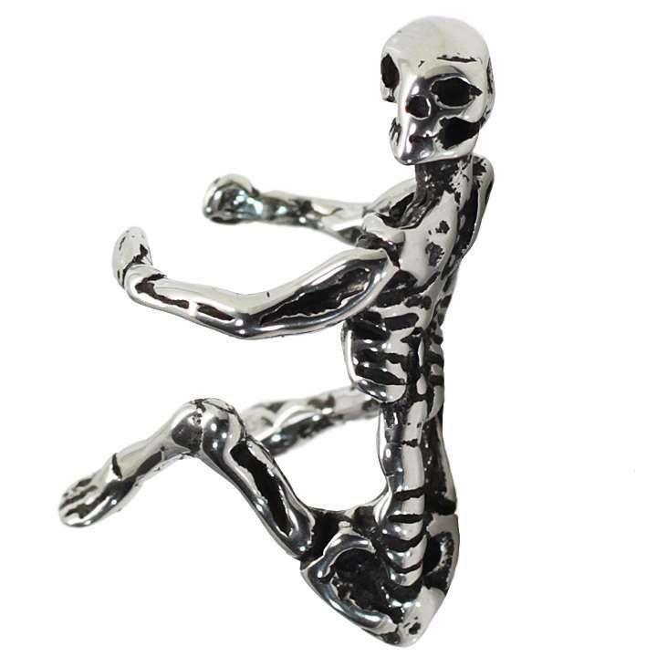 イヤーカフス イヤカフ スカル 骸骨 人間 リアル ステンレス