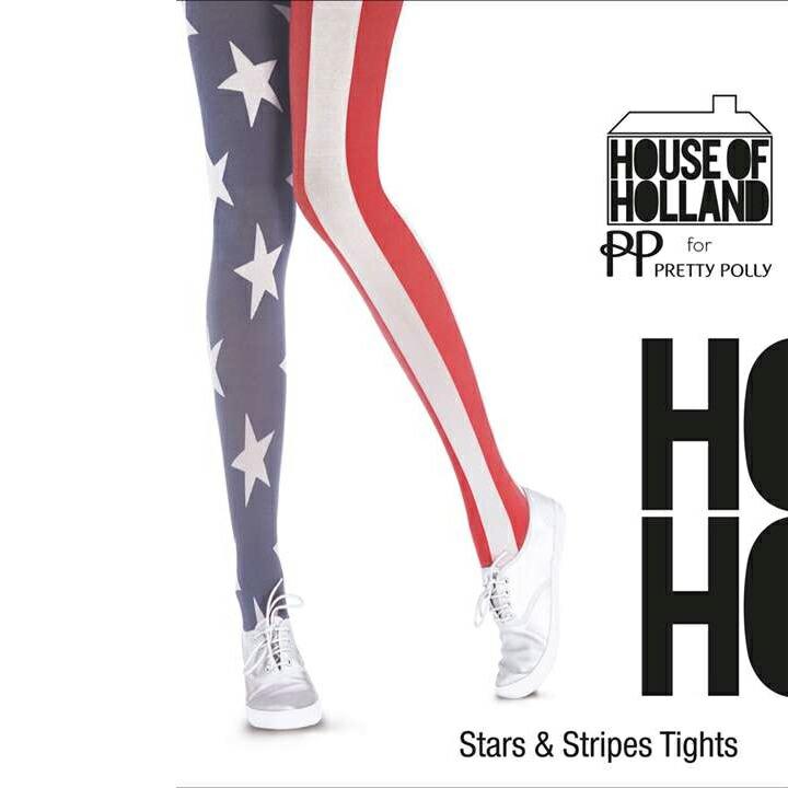 タイツ ストッキング House of Holland ストライプ 星 US国旗柄