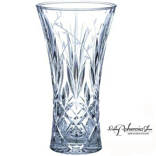 ボヘミア,花瓶,クリスタル花瓶,ガラス,クリスタル,チェコ製,フラワーベース/30cm