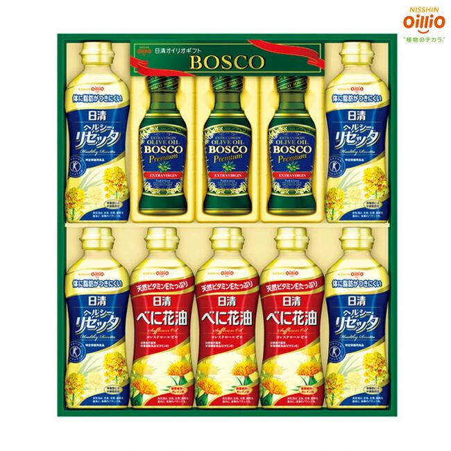 【サラダ油 オリーブオイル ギフト】ボスコ オリーブオイル&ヘルシーオイルギフトセット BM-50【BOSCO/オリーブ油/サラダオイル/ギフト
