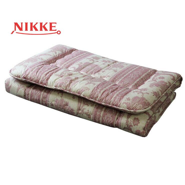 【NIKKE / ニッケ / 寝具 / 敷きふとん / あったかい / ピンク / 圧縮パック】