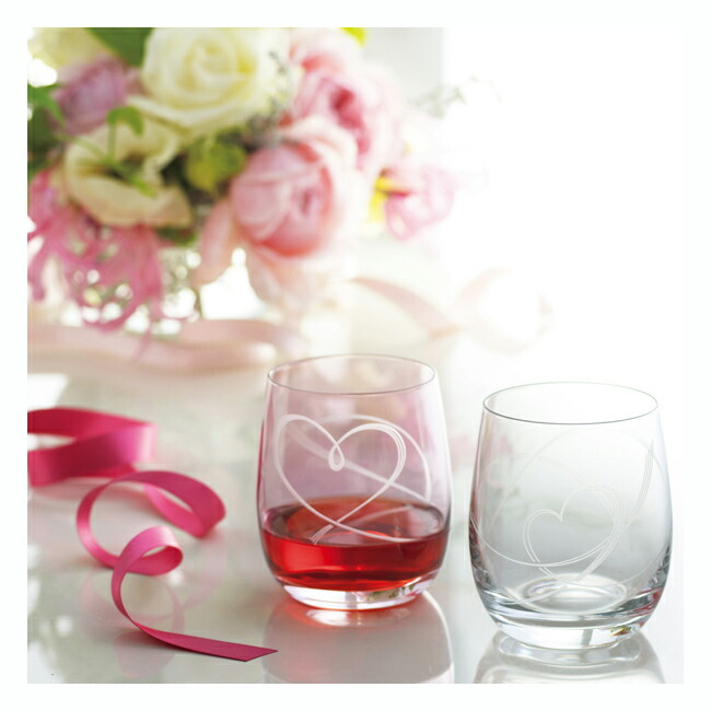 グラスワークスナルミ/ハート結び/ペアフリーグラス(GW4051-18250A)【GLASSWORKSNARUMI/ペアグラス/おしゃれ/人気/父の日/新築祝い/結婚祝い/ギフト/プレゼント/引き出物/内祝い】