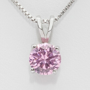 color collections large diamond necklace pink gr inc precious