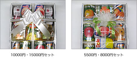 お供え用フルーツ缶詰ラッピング