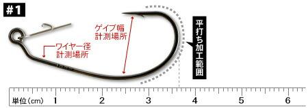 カツイチ デコイ 突刺 HOOK WORM22 (ツキサスフック ワーム22) #1