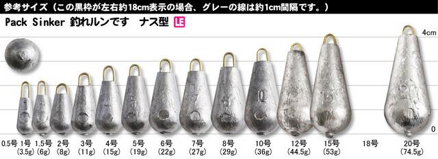 TAKATA (タカタ) 釣れルンです ナス型 (パックおもりシリーズ)