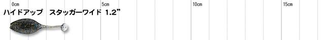 ハイドアップ スタッガーワイド 1.2インチ