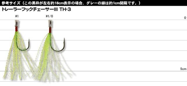 【トレーラーフック】 カツイチ デコイ TRAILER HOOK ChaserⅢ TH-ⅢC (トレーラーフックチェーサー TH-ⅢC) (チューンドプラスシリーズ)