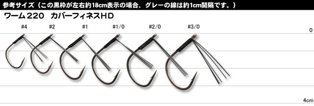 【ワームフック】 カツイチ デコイ COVER Finesse HD WORM220 (カバーフィネスHD ワーム220) (チューンドプラスシリーズ)