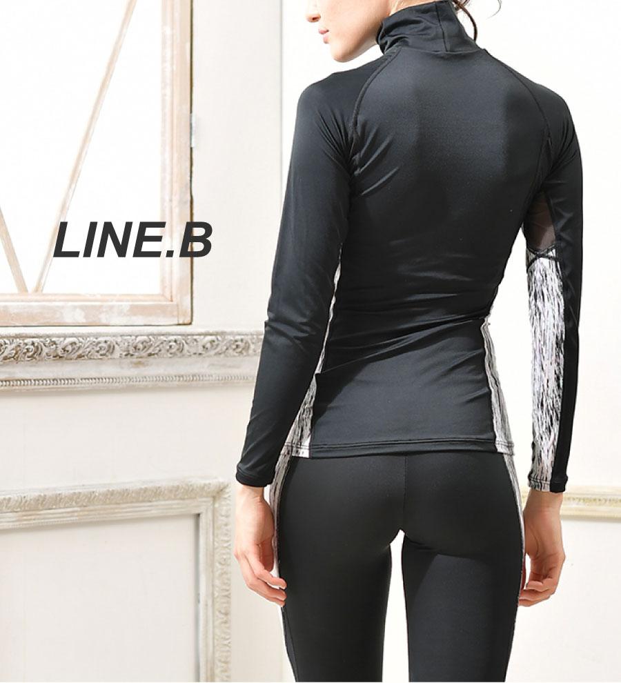 ラインビー LINE.B UVカット率99% ハイネックTOP グラモア glamore