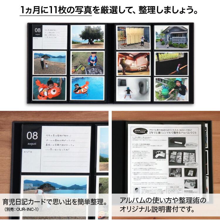 写真の映える黒台紙、写真整理のために考えられた機能