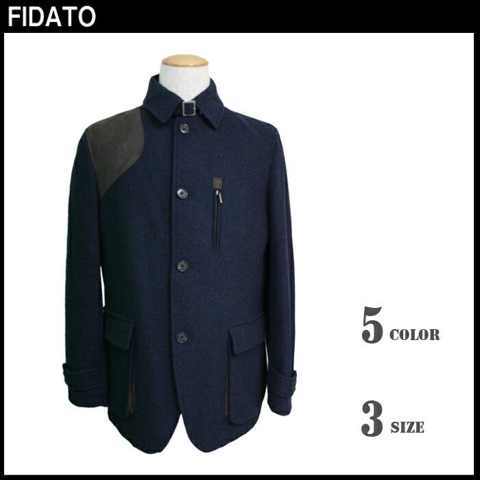 再入荷! 【FIDATO】 ウール混ツィード ハンタージャケット