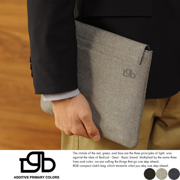【R.G.B.】クラッチバッグ メンズ IPADケース タブレット インナーバッグ シンプル 代金引換、配送日指定不可.