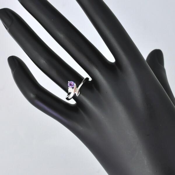 Pt900 タンザナイト ダイヤモンド リング