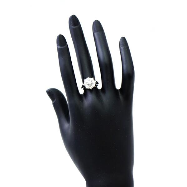 ミニ鑑定書付 Pt900 ダイヤモンド 指輪