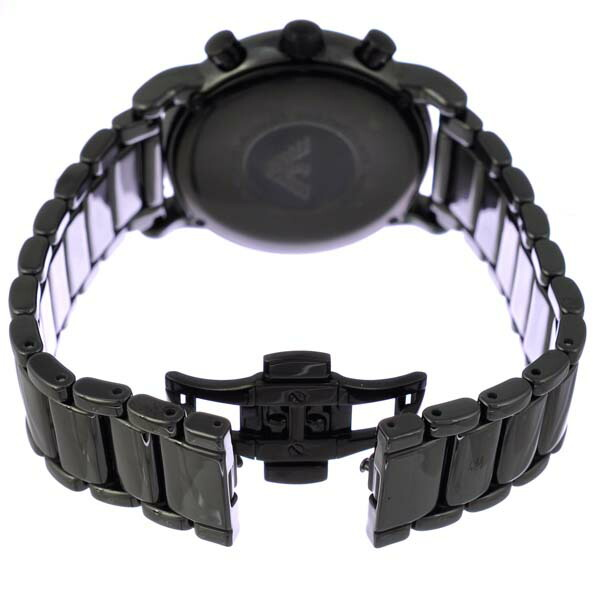 セラミカ クロノグラフ メンズ腕時計 エンポリオアルマーニ