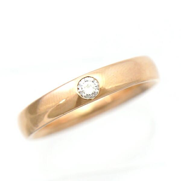 K18PG ダイヤモンド 指輪