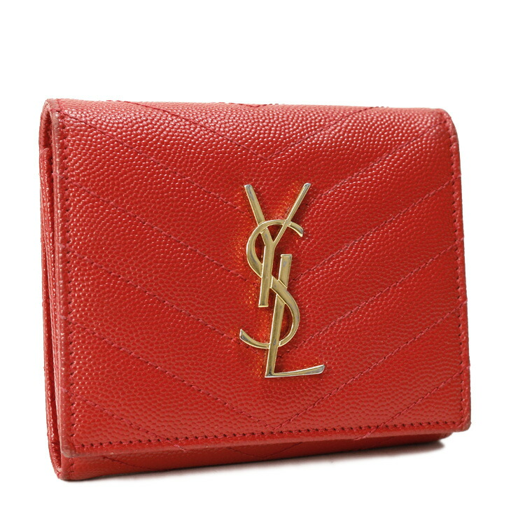 三つ折り財布 サンローランパリ