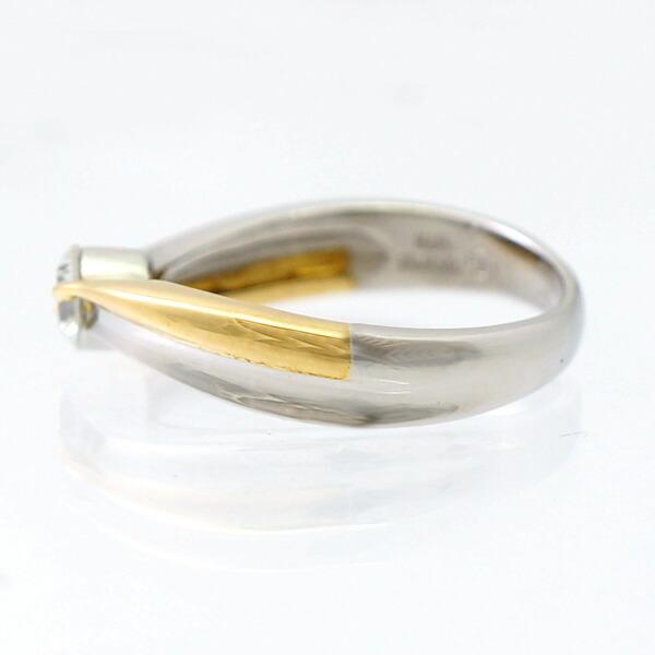 K18 Pt850 ダイヤモンド 指輪