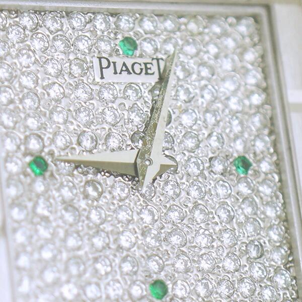 K18WG ダイヤ 4Pサファイア 腕時計 ピアジェ