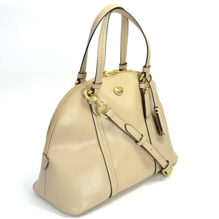 47d986b993a3 【】コーチ 2WAYハンドバッグ レザー ベージュ F25671 COACH [送料無料] [送料無料][]ブランド 鞄 ベージュ 2WAY  使いやすいデザインの2WAYバッグです。