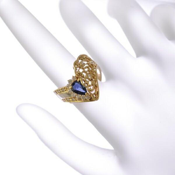 サファイア&ダイヤモンドリング