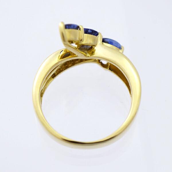サファイア&ダイヤモンド リング