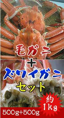毛ガニ+ズワイガニセット