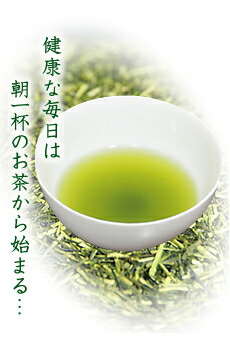 健康な毎日は朝一杯のお茶から始まる…