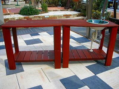 組み合わせ ワークテーブル+ガーデンシンク