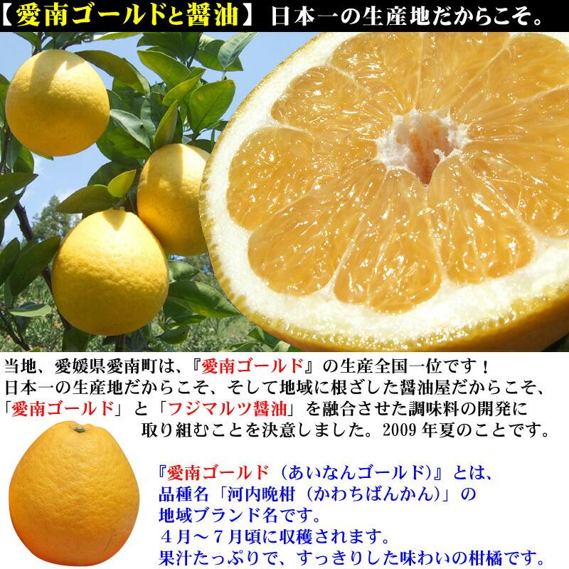 愛南ゴールド生産量日本一の、当地だからこそ、愛南ゴールド調味料を開発!