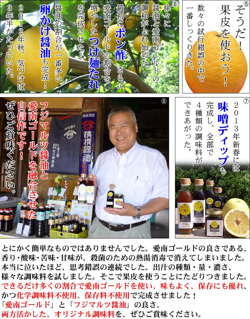 愛南ゴールド調味料の開発秘話(2)