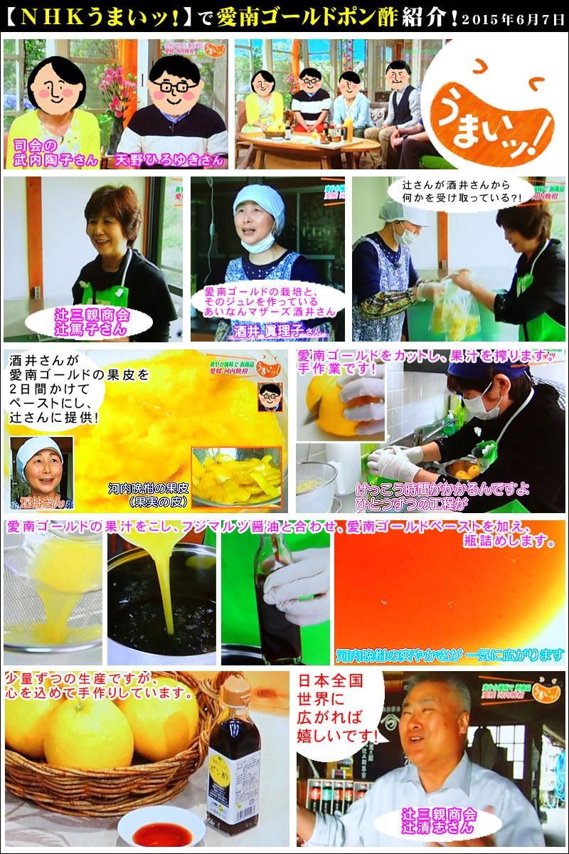 NHKうまいッ!で「愛南ゴールドポン酢」が紹介されました。2015年6月7日