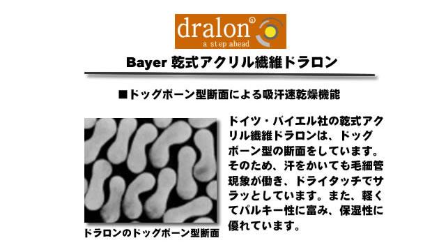乾式アクリル繊維ドラロン