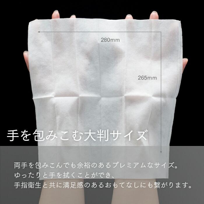 ポケットおしぼり SILKY L(WHITE)