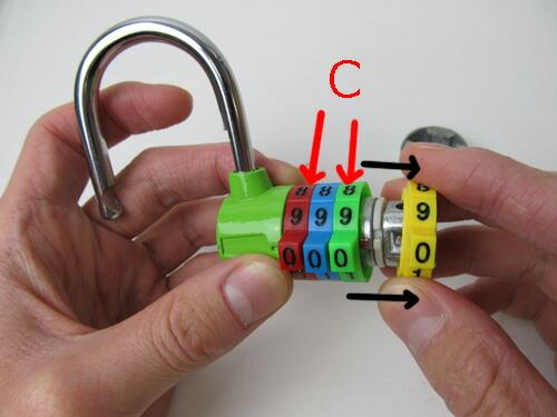 文字の大きい4桁ダイヤル錠 CR-206